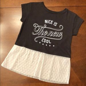 Toddler tee with lace hem. Like New!